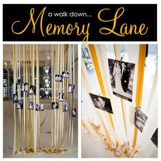 Easy DIY decor for Anniversary/Wedding Events 50th Wedding Anniversary Decorations, Anniversary Parties, 50 Anniversary, Prom Themes, Prom Decor, Photo Displays, Display Photos, Diy Garden, Party Signs