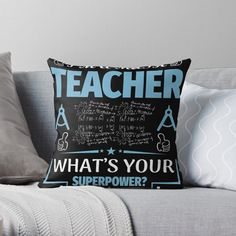 'Teacher Goods' Throw Pillow by Home Decor Inspiration, Best Sellers, Home Furnishings, Living Room Decor, Birthday Gifts, Christmas Gifts, Throw Pillows, Printed, Awesome
