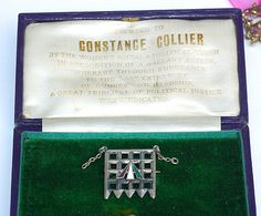 Holloway Prison brooch awarded to suffragette Constance Collier