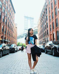 "Gabbi Garcia (@_gabbigarcia) on Instagram: ""Down Under The Manhattan Bridge Overpass  • top from @benchtm @bcbench • #ForeverChuck"" Gabbi Garcia Instagram, Manhattan Bridge, Jun, Trendy Outfits, Hair Ideas, Madrid, Beautiful Pictures, Hair Beauty, Poses"