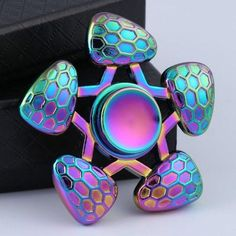 Metal Five-Pointed Star Rainbow Fidget Spinner