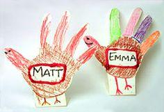 Love a handprint turkey