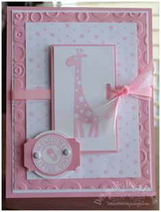 Welcome Little One using Stampin Up Wild about You retired stamp set.