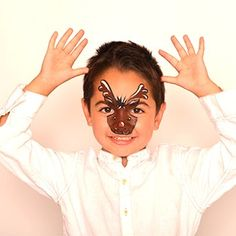 Reindeer (boy) - HolidayFace Paint Ideas - How to Face Paint | Snazaroo