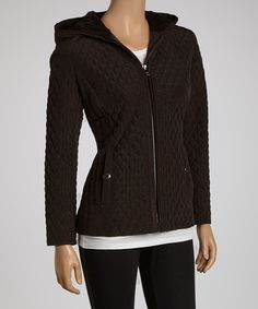 Take a look at this Espresso Hooded Jacket - Women by ESPRIT on #zulily today!