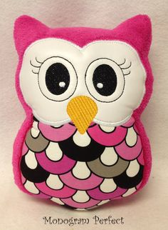 Stuffed Plush Owl Soft Toy Pillow Reading Buddy by MonogramPerfect, $19.99