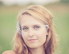 Mini Bridal Birdcage Veil Ready to Ship by BridalEnchantment