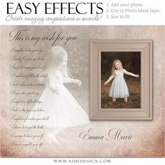 Ashe Design | Photoshop Poster Templates | Easy Effects | My Wish | Child