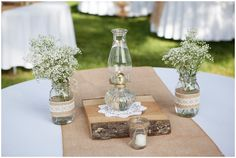 antique oil lamp wedding decor // Photo by Mandy Owens Photography