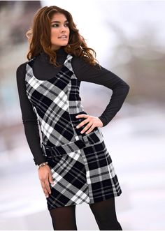 queero! Vestido xadrez preto/branco - BODYFLIRT - bonprix.de