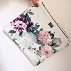 Floral handmade pouch