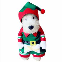 catBoBo Dog Cat cat Christmas Elf Costumes Suit Hoodies Coat Winter Clothing Apparel Puppy Outwear Costume ** Continue to the product at the image link. (This is an affiliate link and I receive a commission for the sales) #Pets