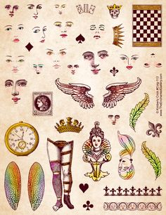 Items similar to Art Doll Rubber Stamps Faces Dragonfly Angel Wings Queen Fairy Head Paper Dolls Supply on Etsy Paper Doll Template, Paper Dolls Printable, Collage Sheet, Collage Art, Digital Collage, Collages, Paper Art, Paper Crafts, Dragonfly Wings