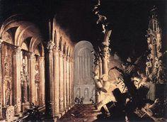 King Asa of Judah Destroying the Idols, Monsù Desiderio (François de Nomé, 1593 - 1620, Didier Barra, ?)