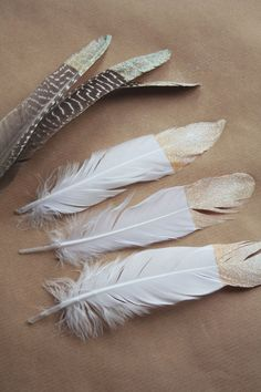 DIY Tutorial: #Gold Dipped #Feathers