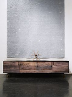 Some day when we get around to replacing my crappy Ikea TV stand, I want to get a media console that looks something like this!