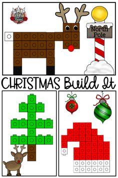 Christmas Math, Christmas Activities For Kids, Preschool Christmas, Noel Christmas, Christmas Themes, Preschool Activities, Christmas Crafts, Winter Activities, Cubes Math
