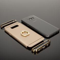 Samsung Galaxy S8 Ring Hülle Handyhülle von NICA, Schutz-Cover mit 360-Grad Fingerhalterung, Dünnes Hard-Case mit Ständer, Slim Backcover Etui matt metallisch für Samsung S-8 Smartphone