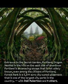 Secret Garden in Portland OR - Travel - # Secret . - Secret Garden in Portland, OR – Travel – - Vacation Places, Vacation Spots, Places To Travel, Us Travel Destinations, Summer Vacations, Camping Places, Oregon Travel, Portland Oregon Hikes, Oregon Coast Roadtrip