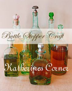 #DIY Wine Bottle Stoppers how cute are they!