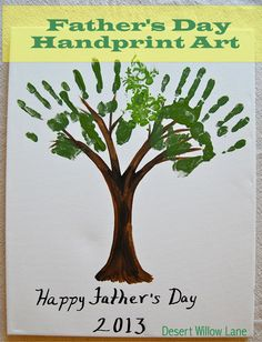 Desert Willow Lane: Father's Day Hand Print Art {Kids' Crafts}