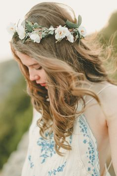 Create the perfect summer festival look by adding a simple flower crown.