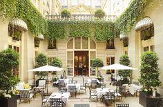 Heaven on earth in the delightful Patio of the Hôtel de Crillon Paris. Playground of sexy Parisians