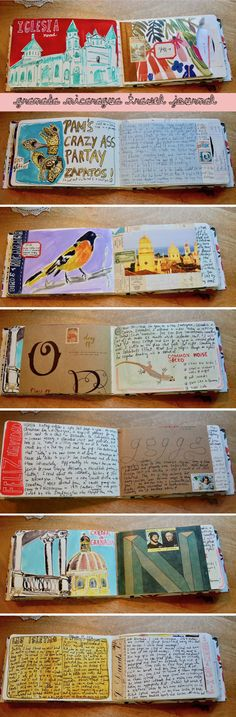 more travel journal pages – part 3