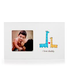 Loving this Pearhead Blue & Yellow Giraffe 'I Love Daddy' Frame on #zulily! #zulilyfinds