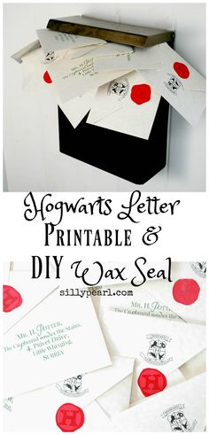 Hogwarts Letter Printable and DIY Wax Seal - The Silly Pearl sillypearl.com