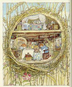 Доброго времени суток, дорогие рукодельницы! Недавно прочитала в интеренете об английской художнице, авторе и иллюстраторе детских книг. чье творчество очень напоминает работы Беатрис Поттер. Вот, что нашла в Википедии - Джилл Барклем родилась в 1951 году в английском городе Эппинге. После школы она училась в знаменитом Центральном Колледже Искусства и Дизайна им. Святого Мартина.