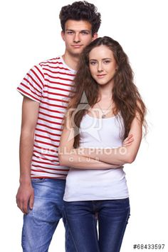 Young casual couple