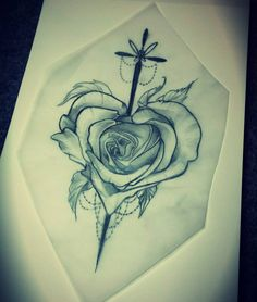 Available tattoo design, email me for booking ✌ #tattoo #tattoodesign #tattoopins #rosetattoo #drawing #sketch #art #neotraditional #neotrad