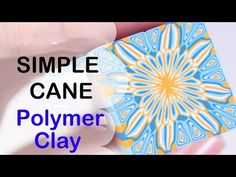 #2 Simple Polymer Clay Cane for Beginners { Tutorial } - YouTube