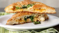 Broccoli, Chicken and cheese hand pies