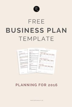 Free Printable Business Plan Template Form Generic  Sample