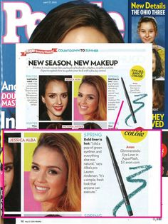 AVON Glimmersticks Eye Liner in Aqua Flash was spotted in People's May 2013 issue