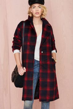 Plaid Intentions Coat | Shop The Temp Drop Shop at Nasty Gal $148