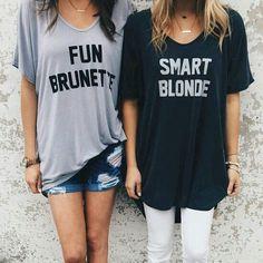 Fun Brunette Smart Blonde Women's T-Shirt