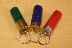 12 Guage Shotgun Shell Key Chain Assorted Colors by GlockOn, via Etsy. $3.99.