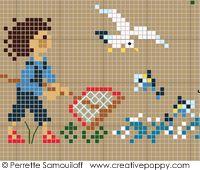 Perrette Samouiloff - Happy Childhood Collection - seaside (cross stitch)