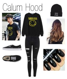 """5SOS Calum Hood inspired outfit"" by cameron-is-a-penguin on Polyvore featuring Topshop, Chicnova Fashion, Vans, women's clothing, women, female, woman, misses and juniors"