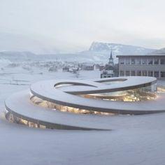 Bjarke Ingels unveils spiralling museum for Swiss watchmaker Audemars Piguet in Vallée de Joux