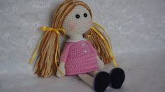 Amigurumi Little Doll-Free Pattern - Knittting Crochet Amigurumi Patterns, Amigurumi Doll, Doll Patterns, Knitting Patterns, Crochet Patterns, Crochet Doll Pattern, Crochet Dolls, Crochet Doll Clothes, Doll Quilt
