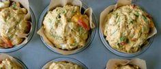 Glutenvrije muffin met spinazie en feta, doet het bijvoorbeeld goed bij een brunch!
