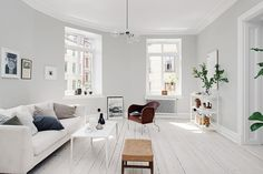 Light grey home with a mix of old and new