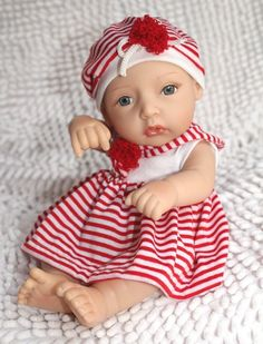 "Reborn Baby Dolls 12"" Silicone Dolls Super Simulation Baby Doll Lifelike Toys,,Lovely baby"