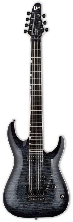 LTD BS-7B Ben Savage Baritone Electric Guitar   Black Sunburst