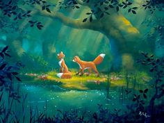 The fox and the hound by Rob Kaz