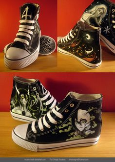 Ulquiorra Bleach Shoes. SOAB I WANT THESE. I <3 Ulquiorra